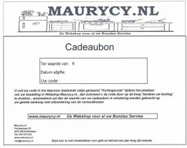 Cadeaubon Maurycy.nl    €15,-