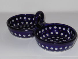 Double bowl met handgreep   2x Ø12cm
