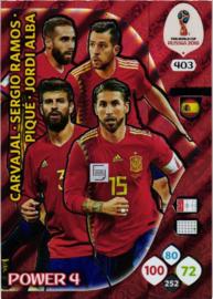 403 Carvajal -Sergio Ramos  -Pique  -Jordi Abla