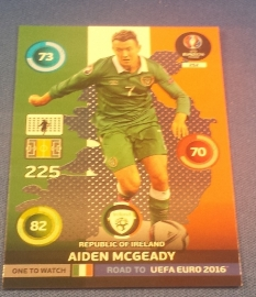 Panini Adrenalyn XL Road to France One to Watch MCGEADY