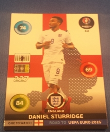 Panini Adrenalyn Road to France 16 One to Watch STURRIDGE