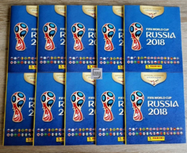 Panini WK World Cup RUSSIA  2018 10x Empty new albums