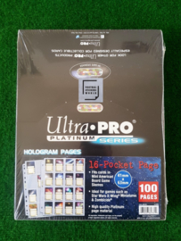 Ultra Pro Pages Platinum 16 Pocket  (41mm x 63mm)