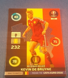 Panini Adrenalyn XL Road to France 16 One to Watch DE BRUYNE