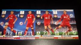 Panini XL Adrenalyn CL 14/15 Update Edition Bayer Leverkusen complete set
