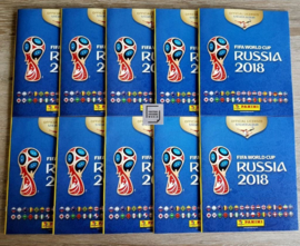10X Panini World Cup 2018 Album