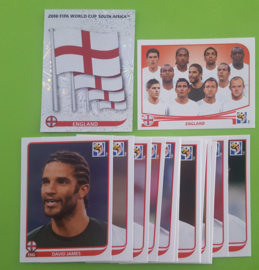 World Cup 2010 Complete Team Set England