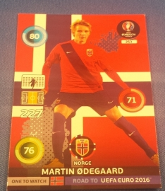 Panini Adrenalyn XL Road to France 16 One to Watch ODEGAARD