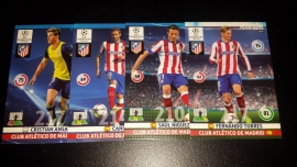 Panini XL Adrenalyn CL 14/15 Update Edition Athletico Madrid complete set