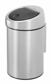 wandafvalemmertje touch bin, Brabantia mat RVS - 3 liter