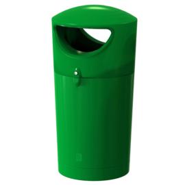 Afvalbak Metro Hooded donker groen - 100 liter
