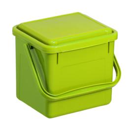 Afvalbakken met klapdeksel