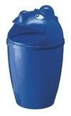 Afvalbak met gezicht blauw - 75 liter