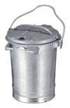 Staalverzinkte afvalbak - 35 liter