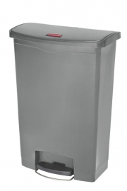 Slim Jim Step On container Front Step kunststof, Rubbermaid grijs - 90 liter