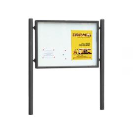 vitrine Vega 1600x1200mm enkelzijdig
