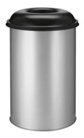 Vlamdovende papierbak aluminiumgrijs/ zwart - 200 liter