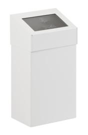Afvalbak met pushklep wit - 18 liter