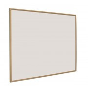 Whiteboard 600x900mm softline profiel 16mm eiken-houtlook emailstaal wit