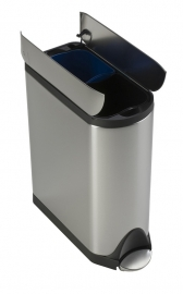 Butterfly Recycler, Simplehuman mat RVS - 2 x 20 liter