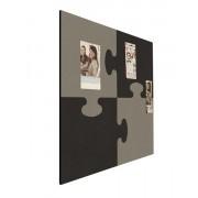 Prikbord bulletin vierkant 1000mm puzzel zwart/ grijs