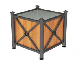 plantenbak Province hout en staal Agora top 800x800x750mm