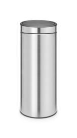 Touch bin new, Brabantia mat RVS - 30 liter