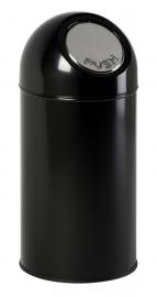 Afvalbak met pushdeksel zwart - 40 liter