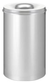 Vlamdovende papierbak zilver - 110 liter