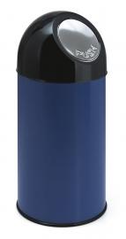 Afvalbak met pushdeksel blauw - 40 liter