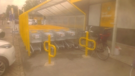 fietssteun Convi in Jumbo geel