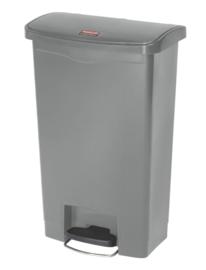 Slim Jim Step On container Front Step kunststof, Rubbermaid grijs - 50 liter