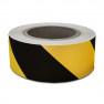Waarschuwings / Markeringstape - 66 m - Zwart / Geel - PVC