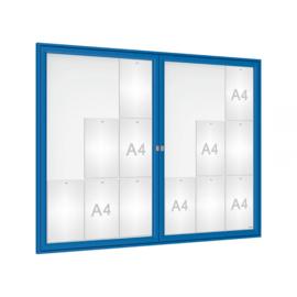 vitrine Tradition dubbele vleugeldeur 1400x1050x30mm