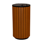 Buitenafvalbak houtlook - 90 liter