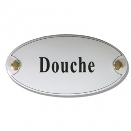 Emaille naamplaatje Douche