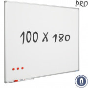 Whiteboard 1000x1800mm magnetisch emaille pro