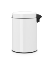 wandafvalemmertje Newicon, Brabantia wit - 3 liter
