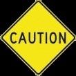 caution vierkant 400mm DOR