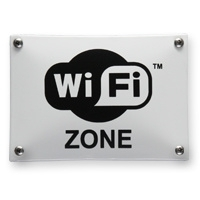 Emaille pictogram WIFI zone 140x100mm