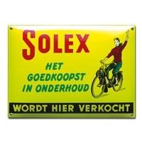 Emaille bord Solex wordt hier verkocht 390x280mm