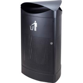Afvalbak driehoekig zwart - 60 liter