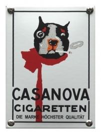 Emaille NK-10-CC Casanova sigaretten 100x140mm