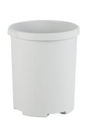 Ronde papierbak grijs - 50 liter