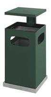 As-papierbak met afneembaar afdak groen - 80 liter