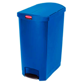 Slim Jim Step On container End Step kunststof, Rubbermaid blauw - 90 liter