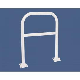 Beschermstang hoepel b=1000mm rond 60mm met tussenstang op voetplaat