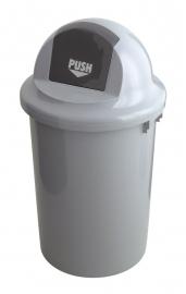 Afvalbak kunststof met klapdeksel - 60 liter