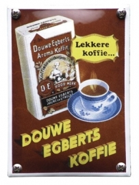 Emaille NK-12-DE Douwe Egberts 100x140mm