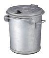 Staalverzinkte afvalbak - 70 liter